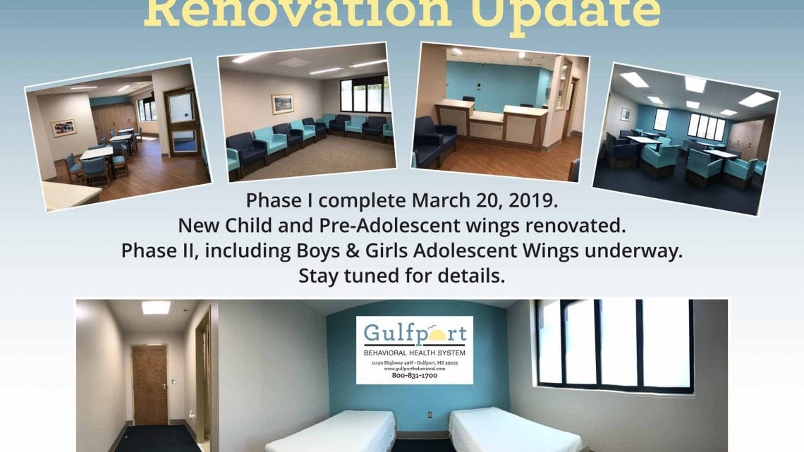 Gulfport Behavioral Renovation Update Flyer
